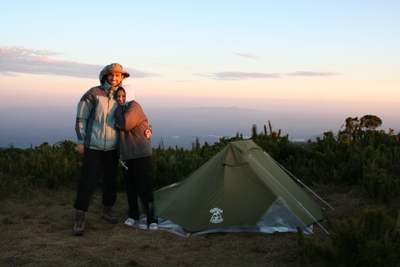 Nosso acampamento pela manhã