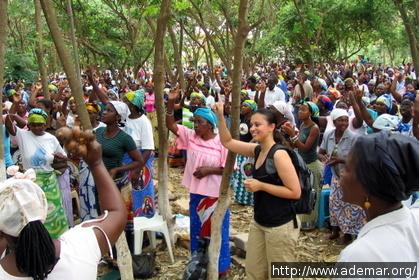 Cerimônia religiosa em Luanda