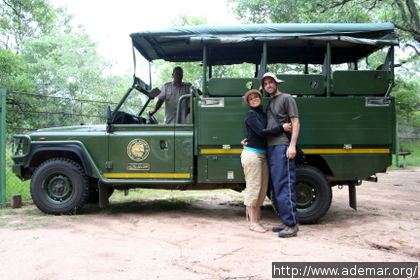 Land Rover usado no Safari