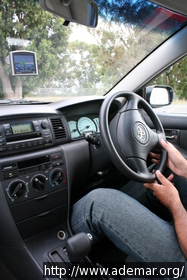 Dentro do carro - tudo ao contrário