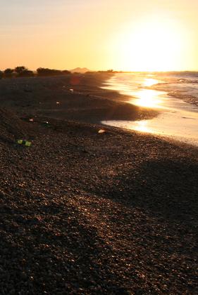 Praia de conchinas, deserta